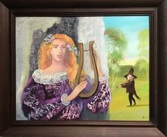 """HERPAI ZOLTÁN """"Duette"""" c. Festménye"""