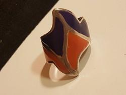 Tűzzománc gyűrű, egyedi és különleges.