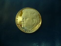 Szinezüst 30 gr F.J. Strauss PP emlékérem