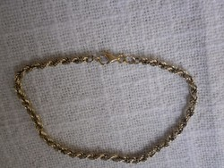14K  arany csavart karkötő 3,3 gramm