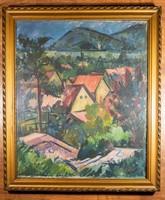 Hegyi György tájkép festmény