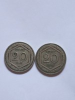 Ritka 20  Centesimi  Olaszország  1918 - 1920 !