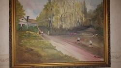 Szignózott festmény , tájkép