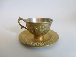 Antik sárgaréz kávéscsésze V.