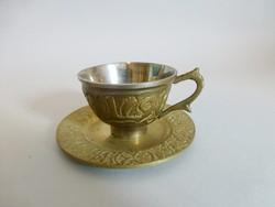Antik sárgaréz kávéscsésze III.