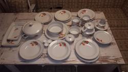 Hollóházi porcelán étkészlet és teáskészlet 6 főre
