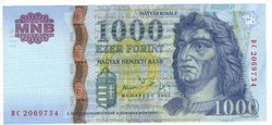 "1000 forint 2005 ""DC"" UNC"