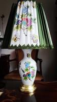 Herendi QueenVictoria porcelán lámpa, ÚJ barokk ernyővel