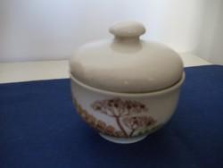 (CP) Colditz porcelán cukortartó kapros mintával