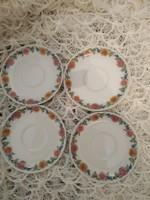 Tavaszi virágos kávés alátét tányér 4 darab