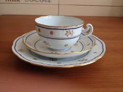 Ó-Herendi Batthyány (BAT) mintás teás reggeliző készlet: teás csésze +alj és kistányér