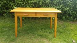 Retro kisméretű íróasztal tömör bükkfából