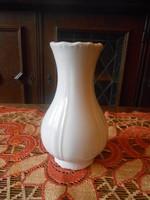 Zsolnay barokk fehér váza 18 cm
