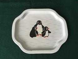 Retro pingvines lemez tálca 20 cm