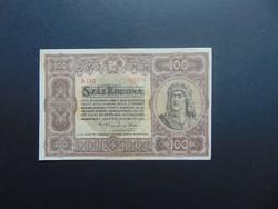 100 korona 1920 A 010 Szép ropogós bankjegy !