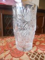Ólomkristály nagy váza, súlya 2,105 kg