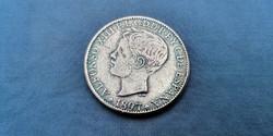 Fülöp szigeteki ezüst 1 peso 1897! Nagyon ritka!