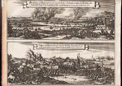 1667 a Holland de Ryter flotta medwayi rajtaütése az Angolokon - rézmetszet XVII. század, eredeti!