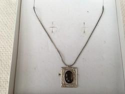 Izraeli ezüst nyaklánc, nyakék