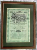 Antik értékpapír, jelzálogkölcsön, Bécs/Wien/ 1908, 500 koronáról.49,5 x 36,5, 35,5 x 24