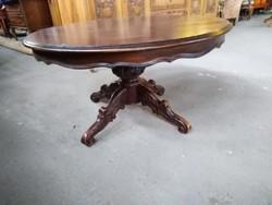 Kerek barok póklábú asztal 100cmx65cm magas.