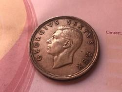 1948 Dél-Afrikai ezüst 5 schilling 28,3 gramm 0,800