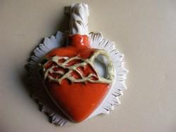 Jézus Szent Szíve  antik porcelán szenteltvíz tartó