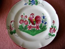 St Clement France kakasos vintage tányér