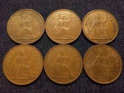 Anglia - Erzsébet királynő One Penny évszám gyűjtemény/id 7761/