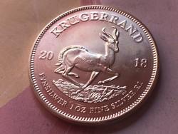 2018 Dél-Afrika Krugerrand ezüst 31,1 gramm 0,999