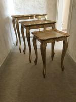 Firenzei barok 3 kis asztalka