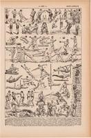 Torna, testnevelés I., nyomat 1923, francia, 19 x 29 cm, lexikon, eredeti, egyszínü, gimnasztika