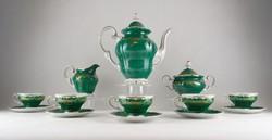 0X052 Weimar porcelán zöld Katharina teáskészlet