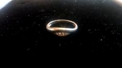 Jelzett Ezüst Köves Gyűrű