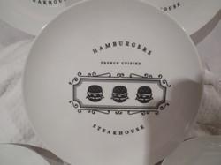 Porcelán - ÚJ -  Francia - jelzett - NAGY - 25 cm - tányér - 5 különböző mintával