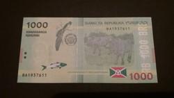 Burundi 1000 Francs UNC 2015
