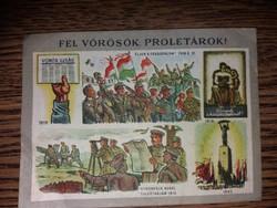 """Röpcédula """" Fel Vörösök Proletárok,,"""
