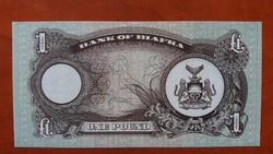 Biafra 1 Pound UNC 1968