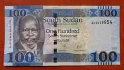Dél-Szudán 100 Pounds UNC 2017