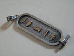 Egyiptomi ezüst névgyűrű (kartus) medál