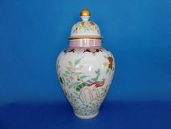 Herendi Paon de Péking Óriás fedeles  váza