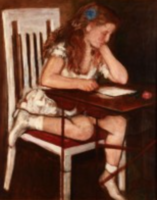 Pólya Tibor - Kislány az asztalnál