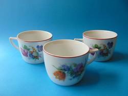 Antik virágos teáscsészék 3 db