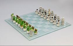 ENS porcelán sakk készlet