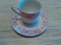 Chinai porcelán kávés csésze kistányéral