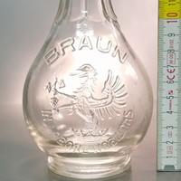 """""""Braun In Labore Nobilitas"""" lopótök likőrösüveg (715)"""