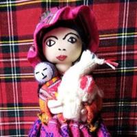 Nagyon szép perui kézműves baba 30cm
