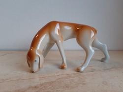 Hollóházi porcelán art deco vizsla kutya