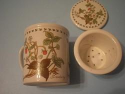 U12 Paolo Roncci,porcelán teáscsésze külön szűrővel ritkaság eladó