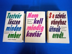 3 db Johannes Mario Simmel könyv egyben